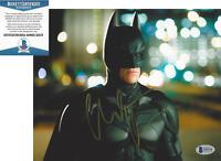 CHRISTIAN BALE SIGNED 'THE DARK KNIGHT RISES BATMAN' 8x10 PHOTO BECKETT BAS COA