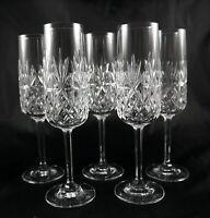5 Stunning Edinburgh Lead Crystal Champagne Flutes Prosecco Glasses Berkeley