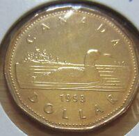 1993 Canada One Dollar 1 $ Coin. (UNC. Loonie)