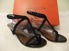 DONALD J PLINER Vista Black Suede Leather Heel  Sandal Dress Size 8 NIB $198