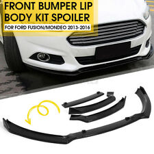3Pcs Front Bumper Lip Spoiler Body Kit Glossy Black For Ford Fusion Mondeo 13-16