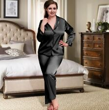 Sexy Satin Pyjamas Set Pink White Black 8 26 Plus Size Nightshirt Nightwear