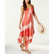 NEW Raviya  Coral Tie Dye Handkerchief Hem Swimsuit Cover Up Dress Size L Large