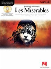 """""""LES MISERABLES"""" INSTRUMENTAL PLAY-ALONG FOR VIOLA-MUSIC BOOK/CD-NEW ON SALE!!"""