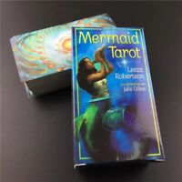 2020 Quality Mermaid Oracle Tarot Deck Board Games 78 Cards Divination English.