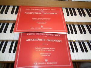 Ausgewählte Orgelwerke I + II Präludien... C.H. Rinck / Orgel-Noten/Kirchenorgel