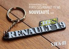 Porte clés Keyrings Renault 19 16S R19 Keychain Monogramme Badge Logo Keys 16V