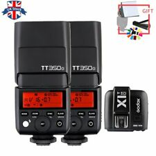 UK 2pcs Godox TT350O 2.4G TTL Flash Speedlite+X1T-O TTL 2.4G Trigger For Olympus