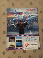 Konami Vs. Top Gun Video Arcade Game Flyer, 1987 NOS