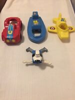 Vintage Underdog Playskool Toy Figure Race Car Boat Plane 1960's Antique Metal