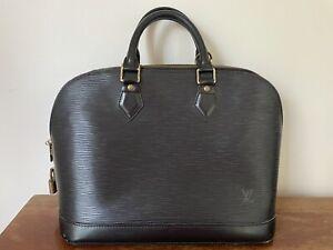 Louis Vuitton Black ALMA Authentic EPI Leather Vintage Handbag Purse Lock FL0045
