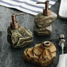 Ceramic Vintage Stone Soap Dispenser Shampoo Sanitizer Shower Gel Lotion Bottle