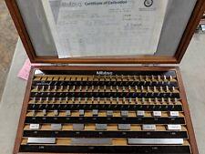 MITUTOYO 81 PC. GAGE BLOCK SET BE1-81-2 GRADE 2 516-902 GAUGE WITH COC 1997 CASE