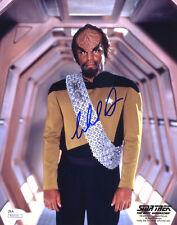 "(SSG) MICHAEL DORN Signed 8X10 Color ""Star Trek"" Photo - JSA (James Spence) COA"