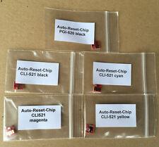 1 Satz Auto Reset Chips Canon PGI520 CLI521 MP620 MP630 MP640