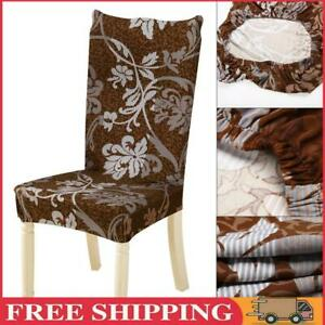 Removable Conjoined Stretchy Floral Home Stool Chair Seat Cover (3#)