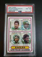 1980 Topps Philadelphia Eagles 1979 Team Leaders PSA 8 Harold Carmichael