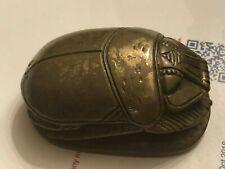 Antique Bronze Egyptian Scarab