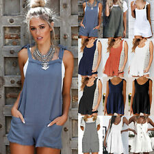 Women's Summer Smock Dress Tops Ladies Holiday Casual Jumpsuit Playsuit Sundress
