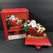 Windsor Collection Santa Sleigh Stocking Hanger Holder Cast Iron Hook 24550