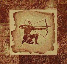 Decorative Tapestry Pillow Cover Zodiac Sign Sagittarius Archer Cushion Accent