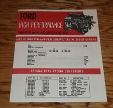 1962 1963 Ford High Performance Parts & Accessories Sales Brochure 62 63