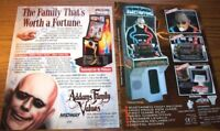 The ADDAMS FAMILY Arcade FLYERS Uncle Fester Electric Shock Machine Original