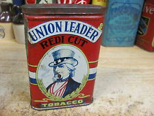 UNION LEADER TOBACCO TIN REDI CUT UPRIGHT VERTICAL POCKET CAN UNCLE SAM VINTAGE