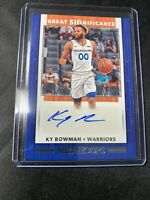 2019-20 KY BOWMAN NBA HOOPS HOLIDAY GREAT SIGNIFICANCE AUTO