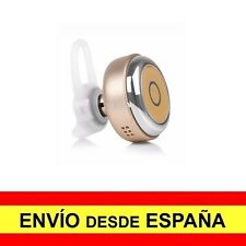 Mini Auricular Bluetooth 4.1 Manos Libres Batería Recargable DORADO a2783