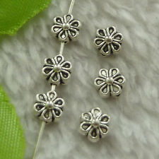 free ship 600 pcs tibet silver flower spacer 7x4mm #3623