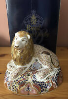 Royal Crown Derby Large Lion Paperweight Signed By John Ablitt & Hugh Gibson