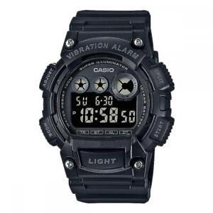 Reloj de Hombre CASIO W-735H-1A Silicona Negro Chrono Timer Alarm Dual Time