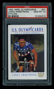 1992 Impel Olympicards #31 Lance Armstrong Cycling PSA 10 GEM MINT