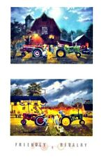 Friendly Rivalry Tractor Pull  Print By Dave Barnhouse
