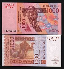TOGO WEST AFRICAN STATES 1000 FRANCS 2003/2012 CAMEL RED CROSS MONEY BANK NOTE