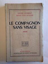 LE COMPAGNON SANS VISAGE 1948 STAMBATVAN RUGGHE DEDICACE EO ILLUSTRE