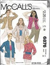 Vtg Mccall 1970 70s Pattern 6876 Jacket Quilted Mandarin Asian Oriental 14