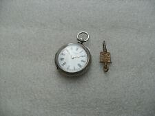 Ladies Antique Silver JW Benson Pocket Watch