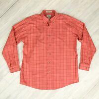 Mens LL Bean Wrinkle Free Traditional Fit Button Down Shirt Sz Large Reg Plaid