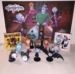 Disney Vampirina  Figure Set of 12 with 10 Figures and 2 Fun Stickers