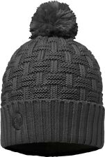 Buff Airon Pom Pom Beanie Hat - Grey