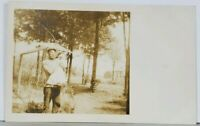 RPPC Daddy or Grandpop Showing off Baby Real Photo c1908 Postcard K14