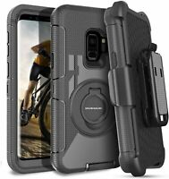 Samsung Galaxy S9 Case Protective With Wireless Charging Belt Clip Black