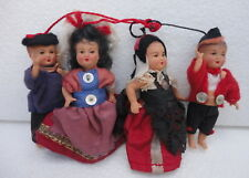 "x4 Beautifuls Antique Miniature 2,3"" Celluloid  Doll"
