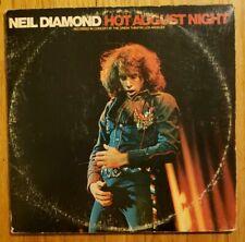 NEIL DIAMOND - HOT AUGUST NIGHT LP VINYL 1972 DOUBLE LP GATEFOLD MCA 2-8000 VG