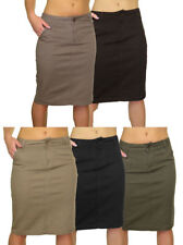 Cotton Straight, Pencil Casual Regular Size Skirts for Women