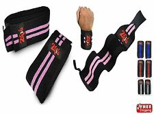 2Fit Knee & Wrist Wrap Grip Bandage Pads Weight Lifting Crossfit Gym Training
