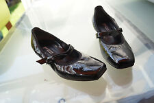 PAUL GREEN Damen Schuhe Pumps Sandalen Gr.5,5 / 39 Lack Leder schwarz w. Neu #4k