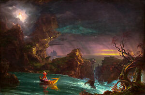 Thomas Cole, The Voyage of Life, 1842, European Art, Museum Poster, Canvas Print